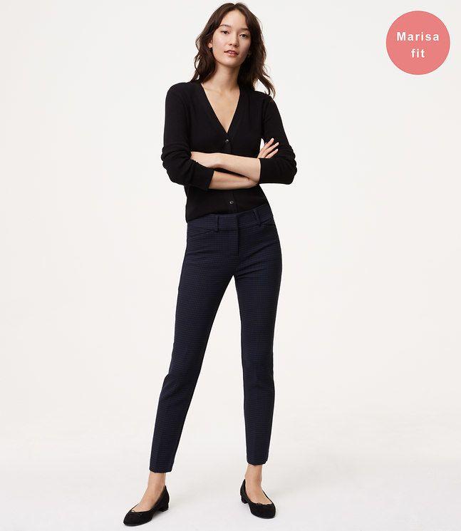 38dce287507 LOFT Skinny Micro Plaid Ankle Pants in Marisa Fit