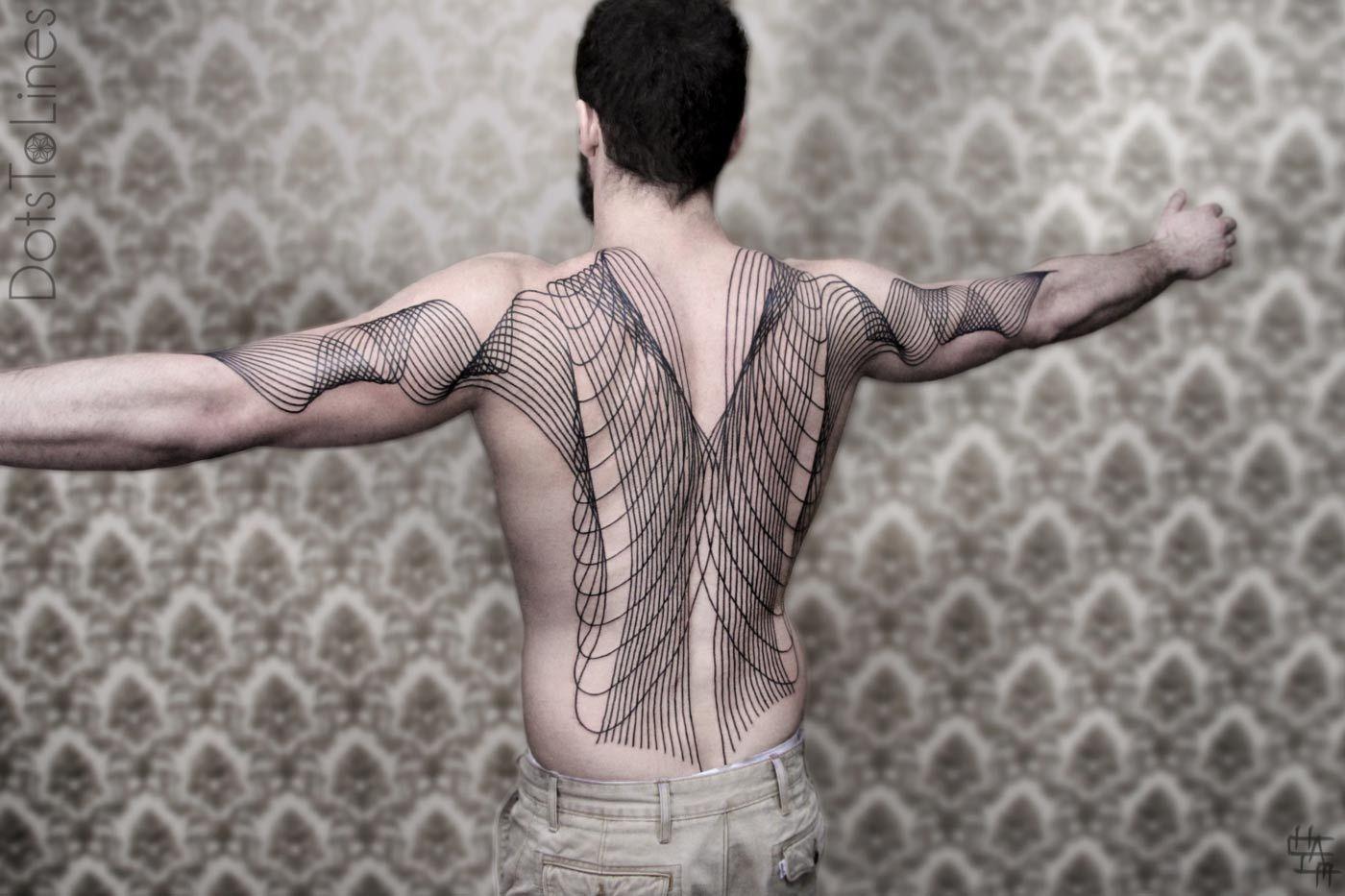 Line Art Tattoo : Line art tattoo by chaim machlev dotstolines skin