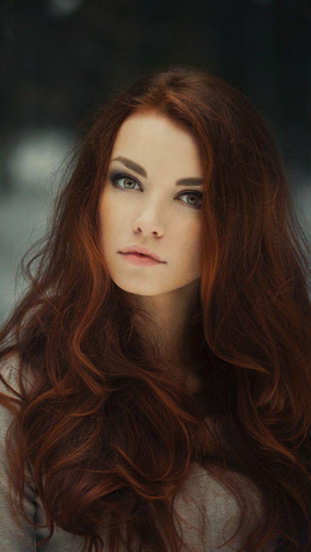 Auburn haired woman