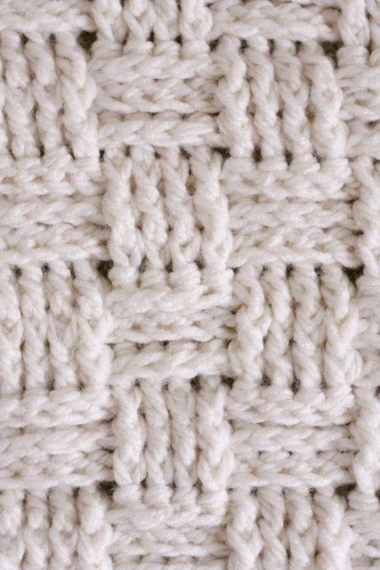 Nesting Basket Weave Crochet Baby Blanket Delia Creates