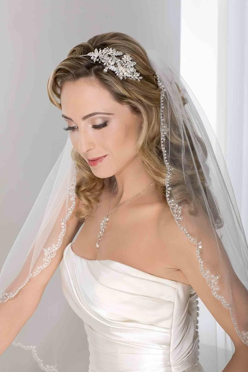 Bel aire bridal veils and headpieces 6277 terry costa