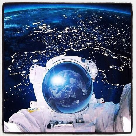 Out Of This World Astronaut Selfies Space And Astronomy Earth From Space Astronomy