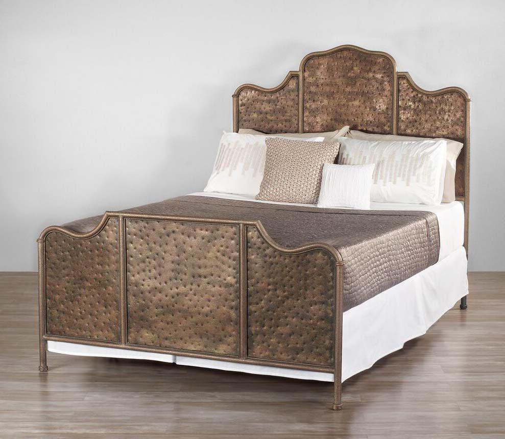 Wesley Allen Abington Iron Bed Furniture, King metal bed