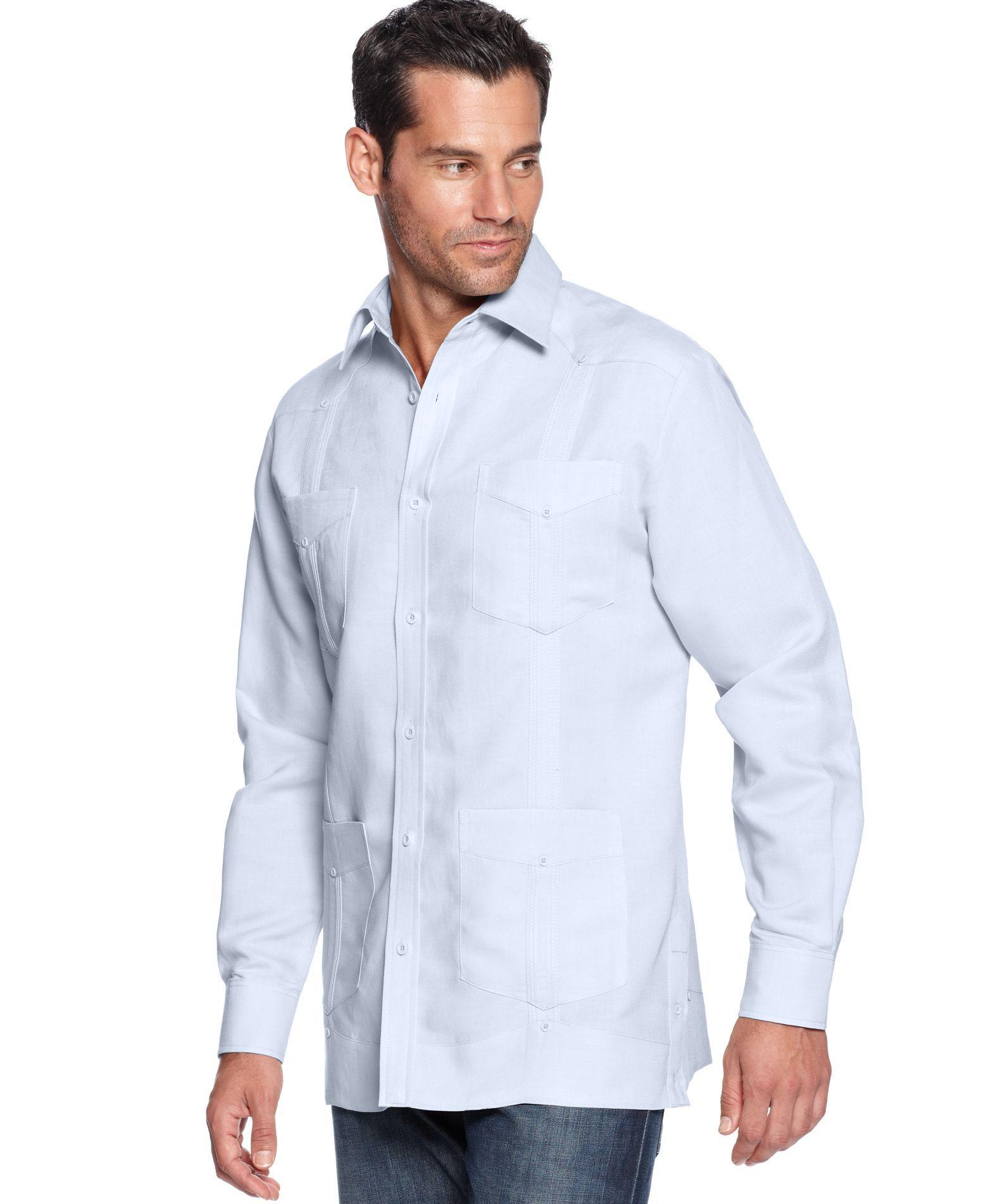 Cubavera Shirt, Guayabera Button Front Shirt