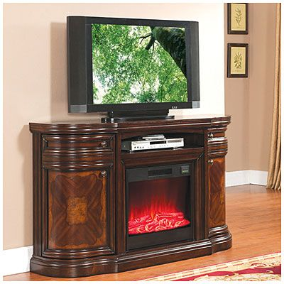 "60"" Cherry Media Electric Fireplace at Big Lots."