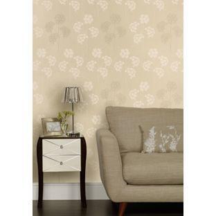 Laura ashley agapanthus linen wallpaper from for Homebase bedroom inspiration