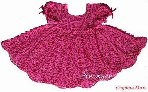 Patrones vestidos tejidos a crochet para niñas08 | Tejidos de ...