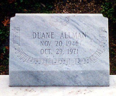 Rose Hill Cemetery Macon GA Grave of Duane Allman