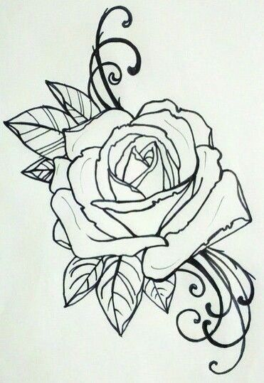 Old School Rose Tattoo Tattoo Coloring Book Rose Tattoos Rose Drawing Tattoo