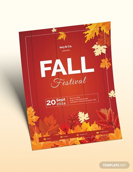 Fall Festival Flyer Template in 2020 | Flyer design ...