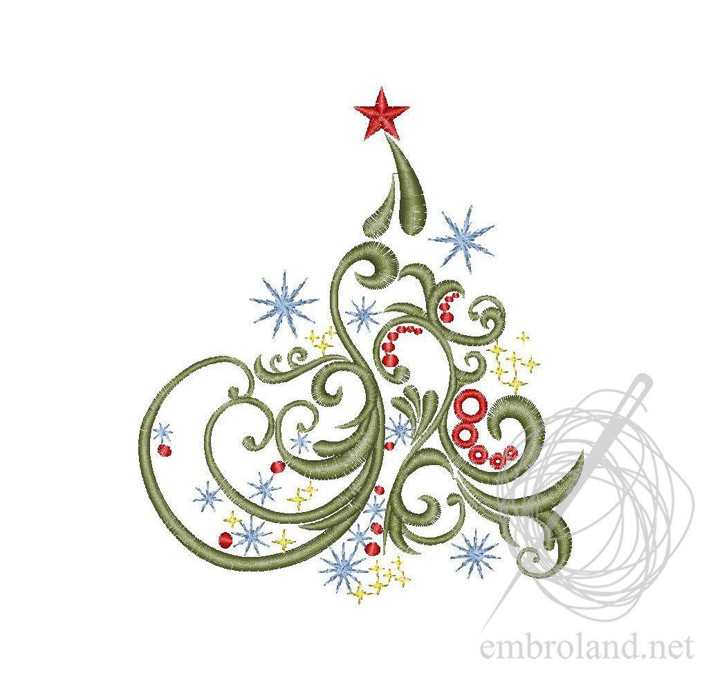 Christmas Embroidery Design Christmas Tree Embroidery Machine Embroidery Design Instant Download Christmas Embroidery File Christmas Embroidery Designs Machine Embroidery Designs Embroidery Designs