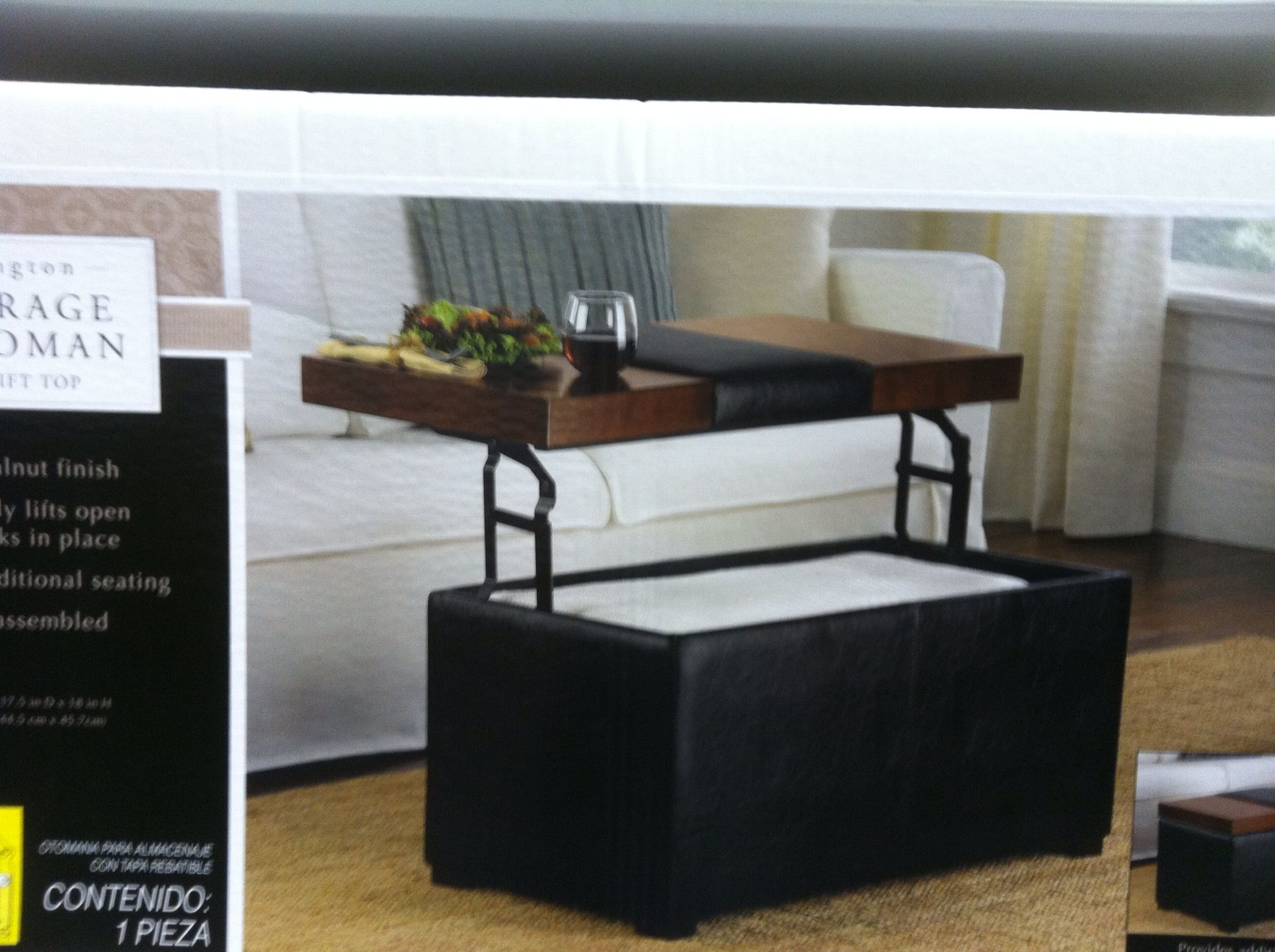 Coffee Table Ottoman Storage