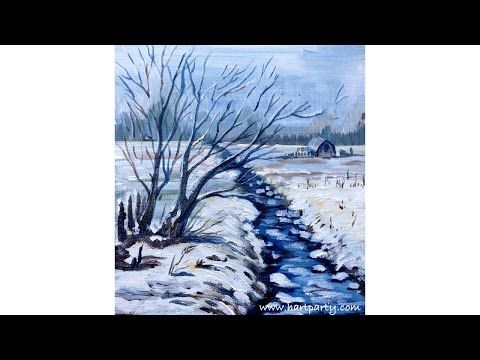 How To Paint Winter Snow Scene The Art Sherpa Youtube Artist