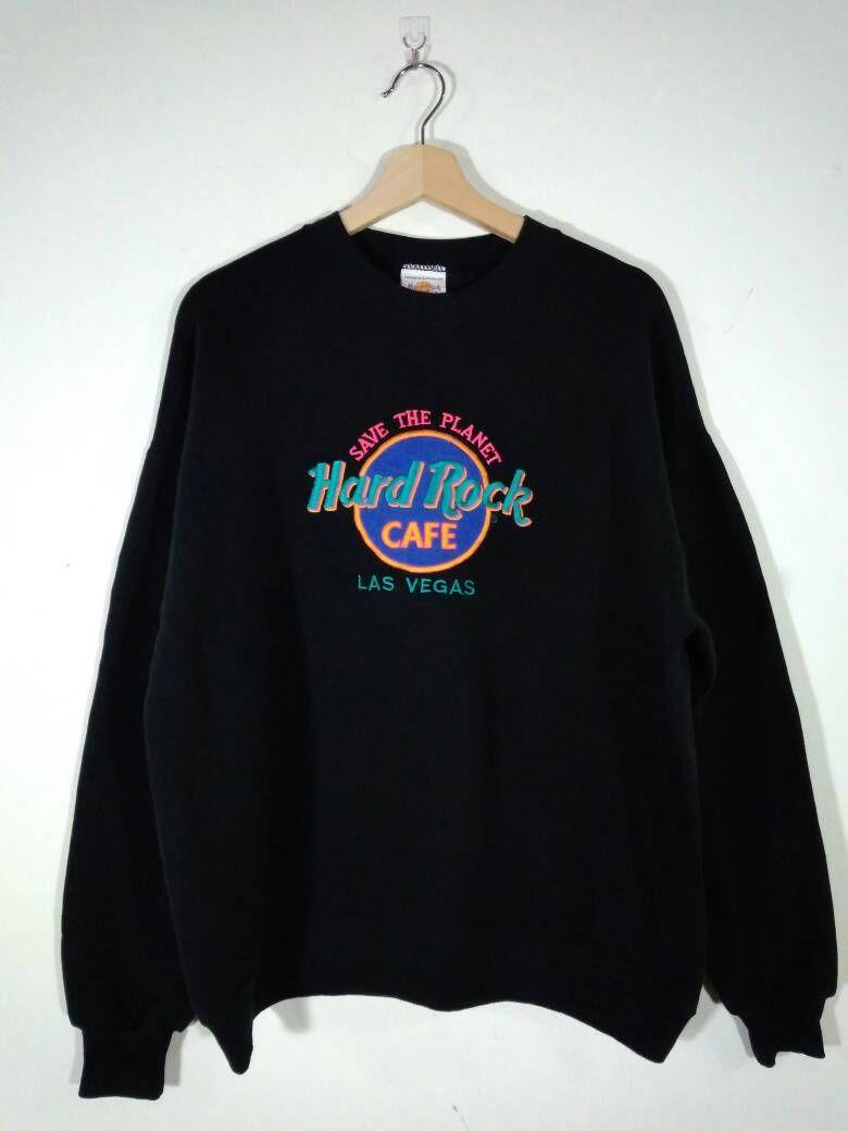 Hard Rock Cafe Las Vegas Embroidery Logo 5050 Poly Cotton Blend