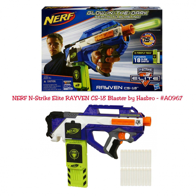 Retired NERF N Strike Elite RAYVEN CS 18 Blaster by Hasbro A0967