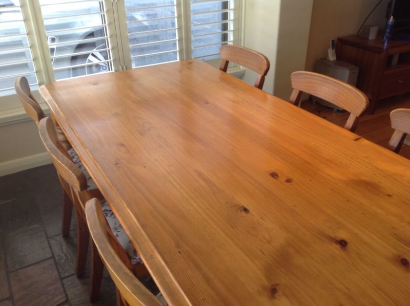 Baltic Pine Dining Table Upholstered Chairs Dining Tables