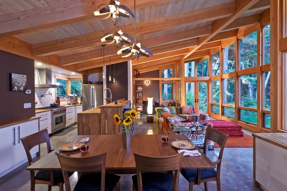 delightful shed roof home interior design rustic dining