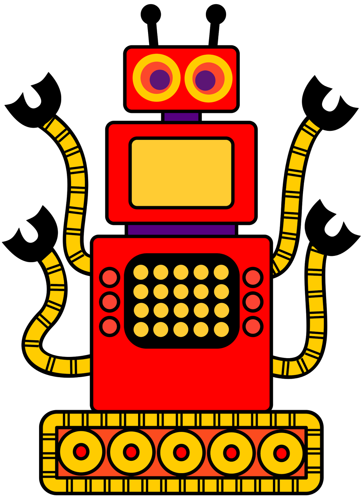 free robot clip art for classrooms teachers and parents escuela rh pinterest co uk  free clipart images for preschool teachers