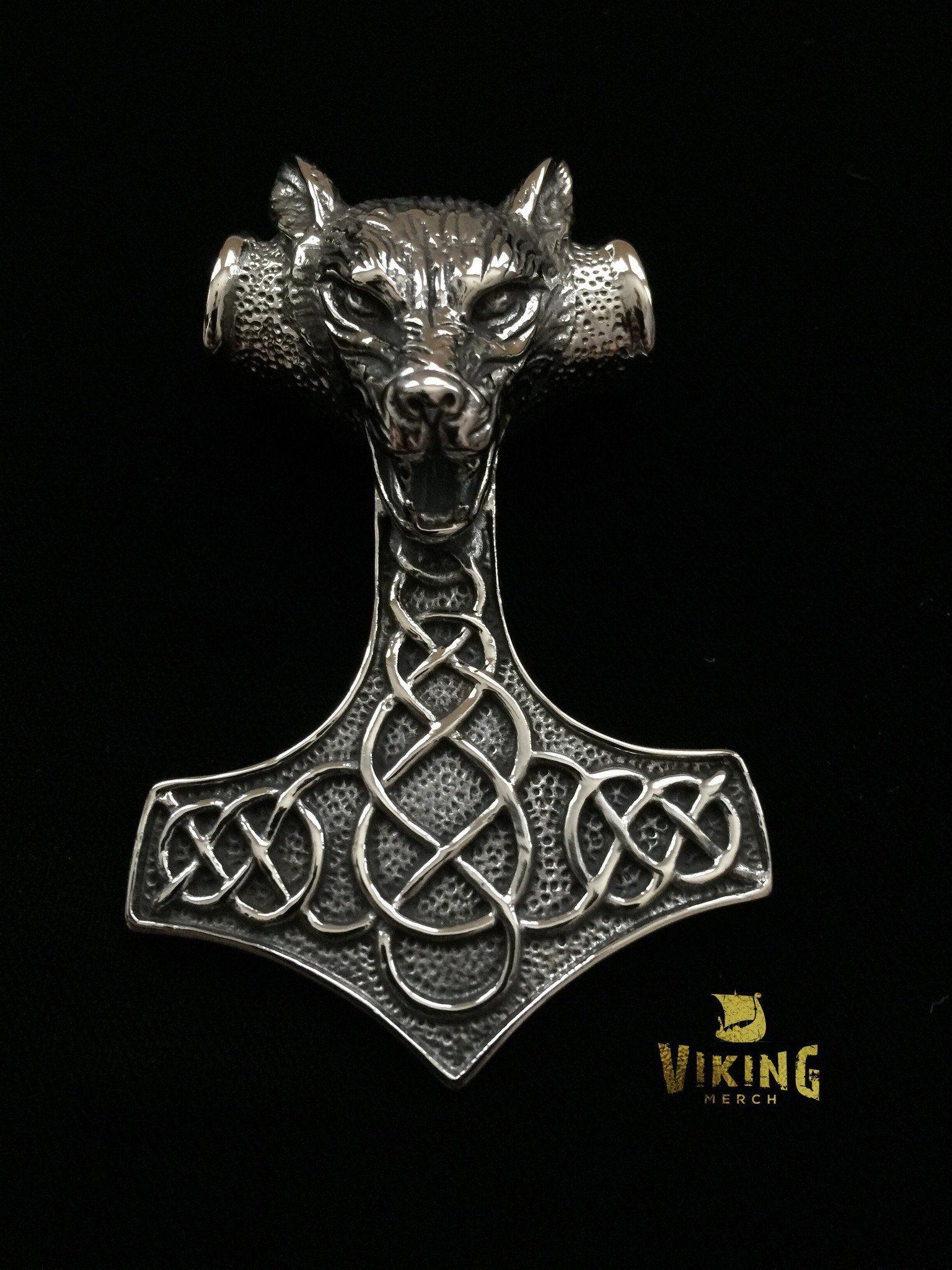 HUGE Viking Wolf Thor Hammer (TH004) - Viking Merch