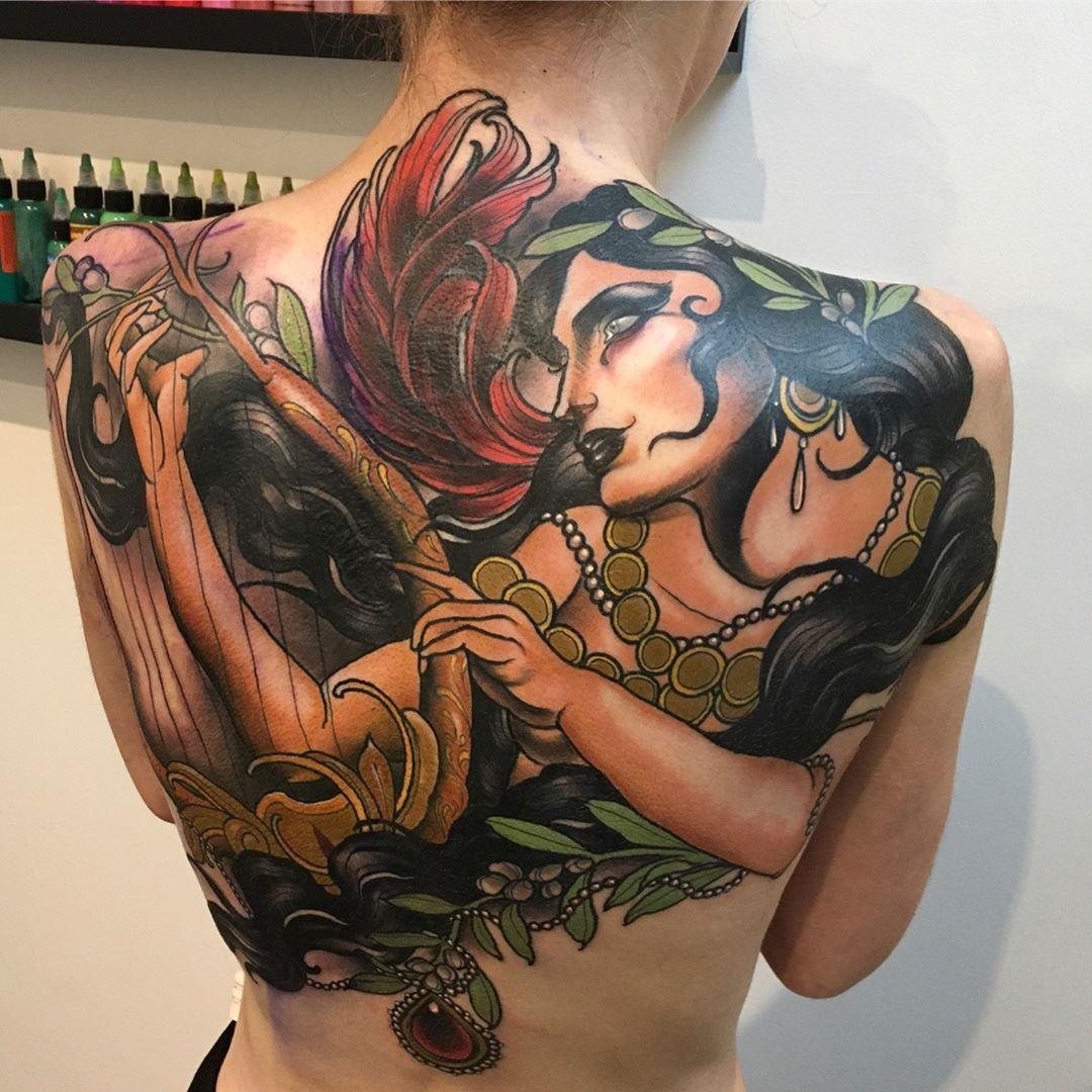 Jake danielson back tattoo tattoos big cover up tattoos