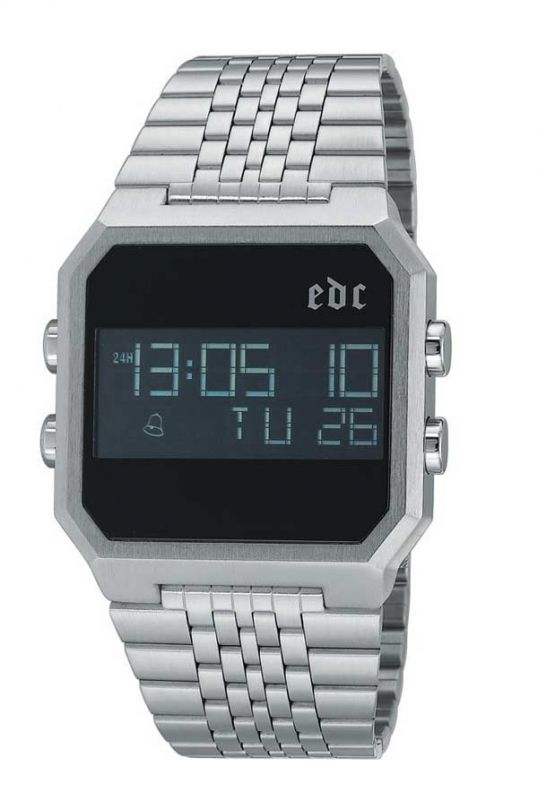 EDC Retro digital - cool silver