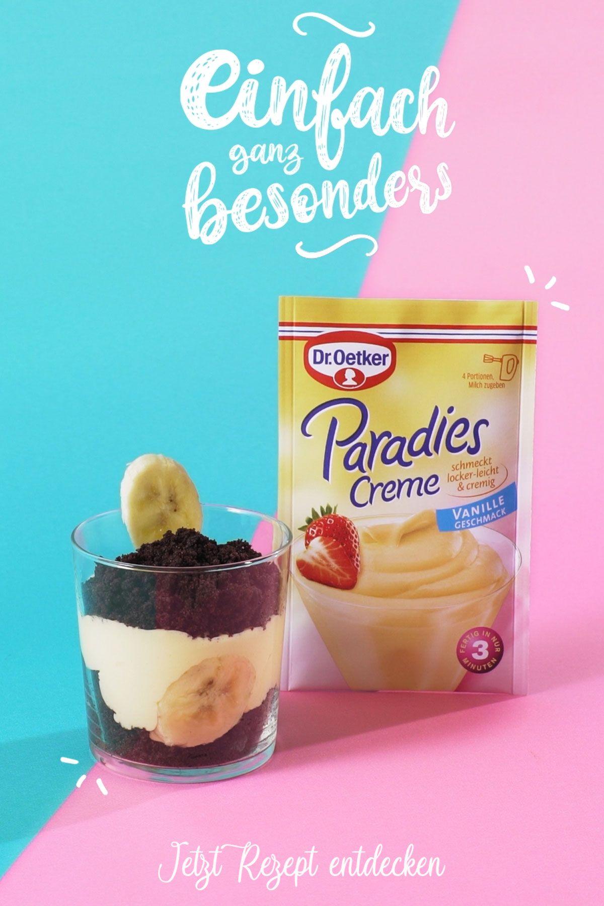 Maulwurf-Dessert mit Banane