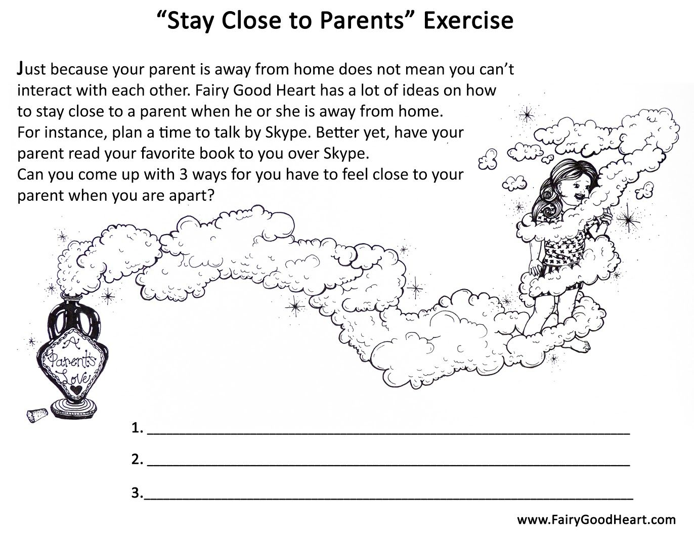 Worksheet To Assist Parents To Help Kids Find Ways To