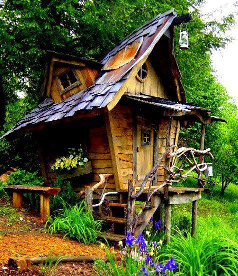 Whimsical garden decor ideas whimsical playhouse arthur for Whimsical cottage house plans