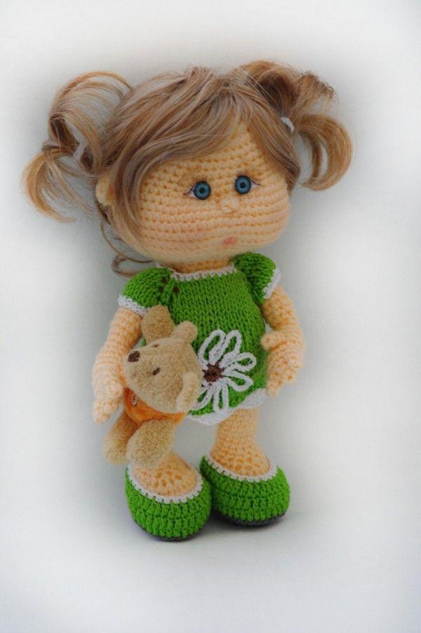 Puppe häkeln // Babypuppe häkeln Anleitung | Häkeln | Pinterest ...