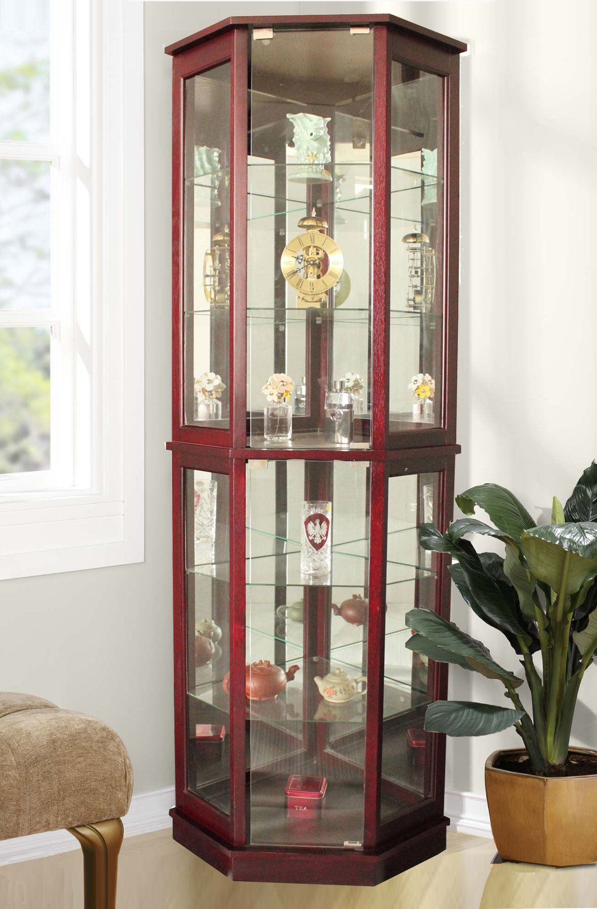 Biali Corner Curio Cabinet Glass Curio Cabinets Crockery Unit Design Glass Cabinets Display