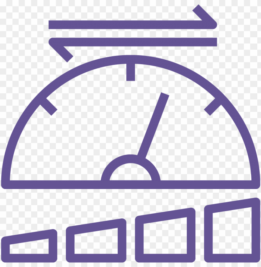 erformance icon speedometer line ico PNG image with