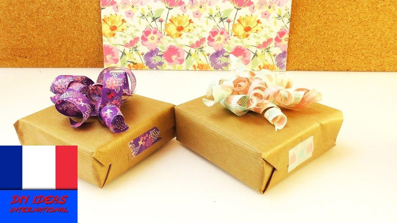 DIY Washitape Décoration pour paquet cadeau | Jolie idée de déco pour vos emballages cadeaux
