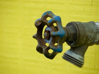 How to Fix an Outside Faucet Leak   Faucet, Wooden ice chest and Yards