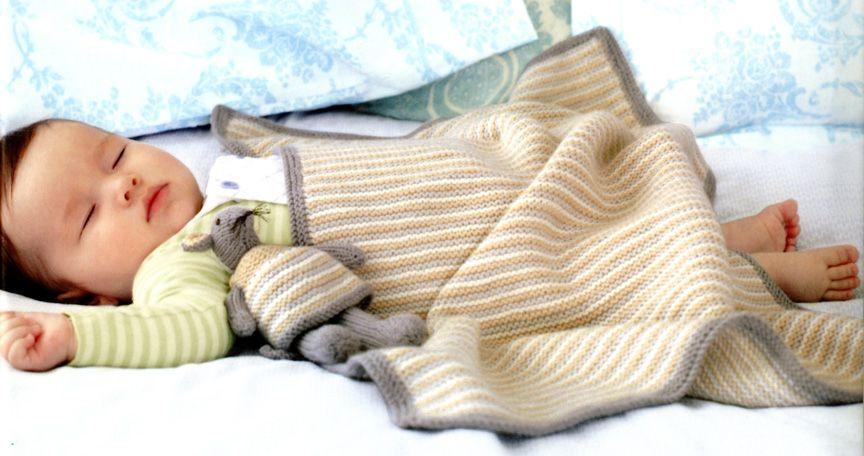 Debbie Bliss Easy Striped Baby Blanket Kit | Striped baby ...