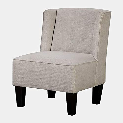 Miraculous Linen Accent Chair With Wood Frame Winged Accent Slipper Ncnpc Chair Design For Home Ncnpcorg