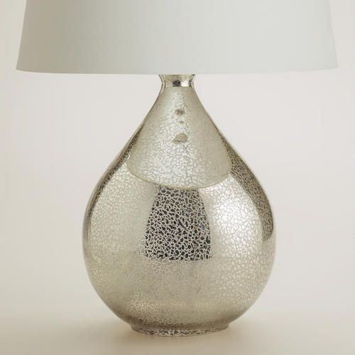 : Martina Aged Mirror Table Lamp Base $50 W/o Shade