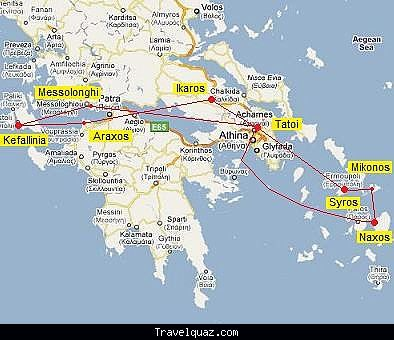 cool Map of Araxos Travelquaz Pinterest Athens