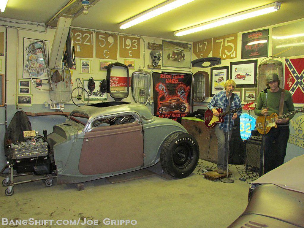Old Hot Rods Garages Bangshift Com Gallery Rolling Bones Hot Rod Shop Garage Hot Rods Old Hot Rods Car Themed Bedrooms