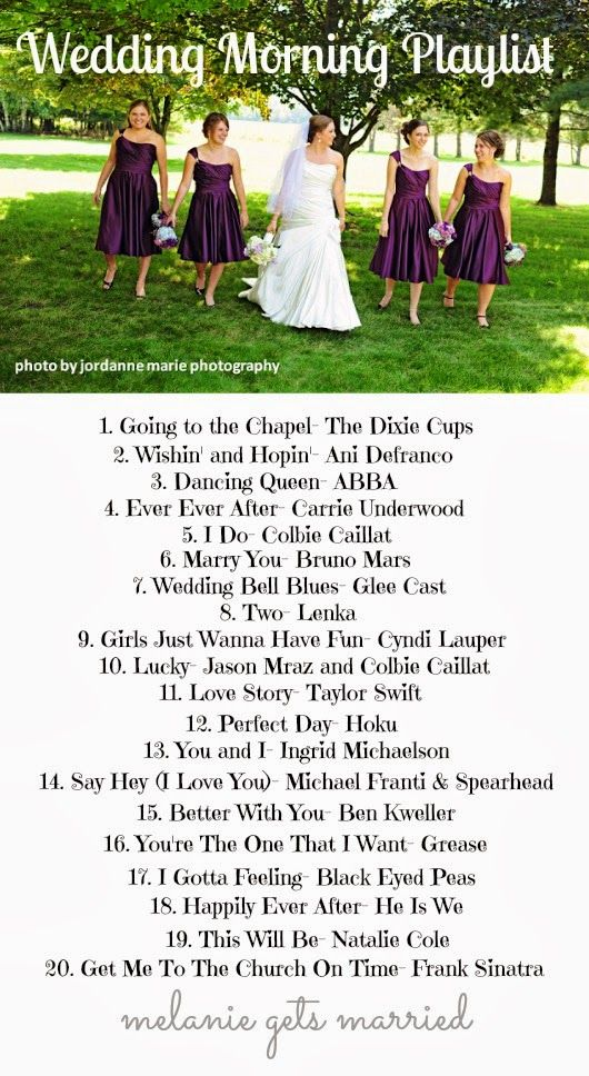 wedding morning playlist which ones are you going to play