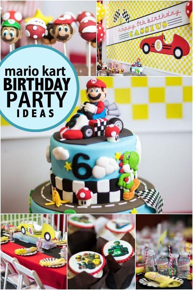 Boy S Mario Kart Birthday Party Ideas Spaceships And