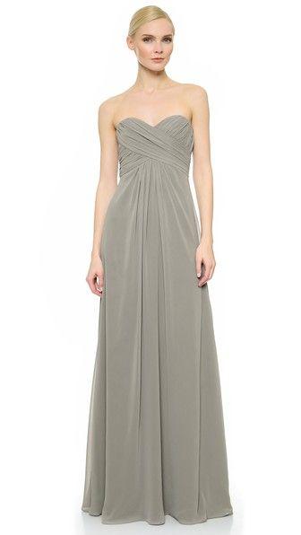 48b0758b26d6 Monique Lhuillier Bridesmaids – Pleated Sweetheart Gown