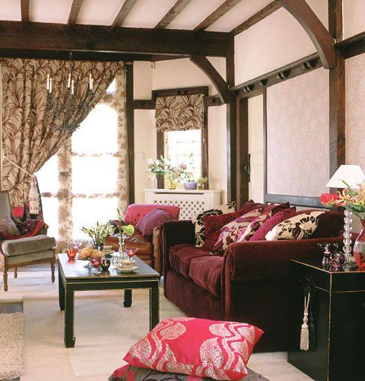 Moroccan Style~ - the one sided curtain pull - can do this in bath