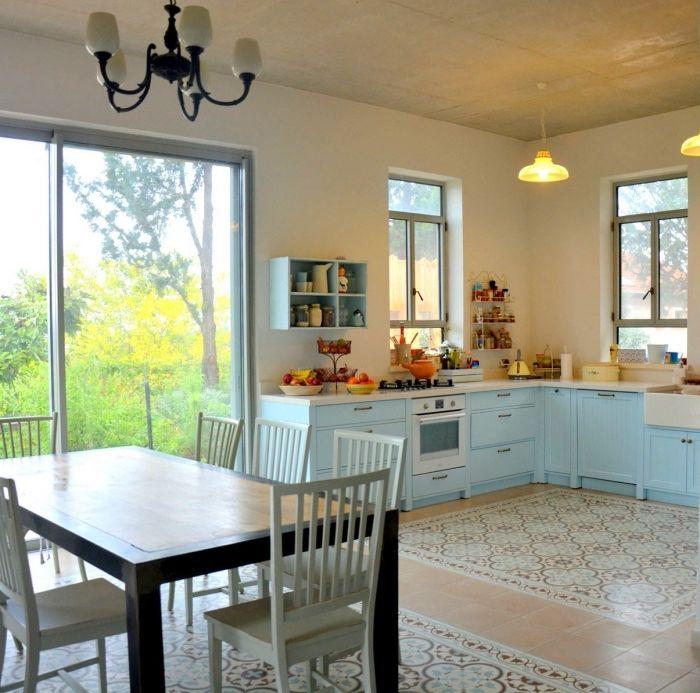 1001 mod les de cuisine avec carreaux de ciment with Table de cuisine originale