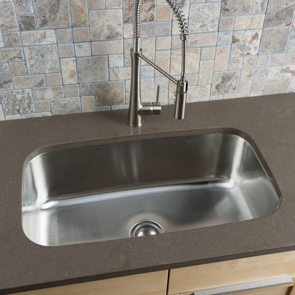Karran Edge E 340 Extra Large Single Bowl Kitchen Sink Sink Stainless Steel Kitchen Sink Single Bowl Kitchen Sink