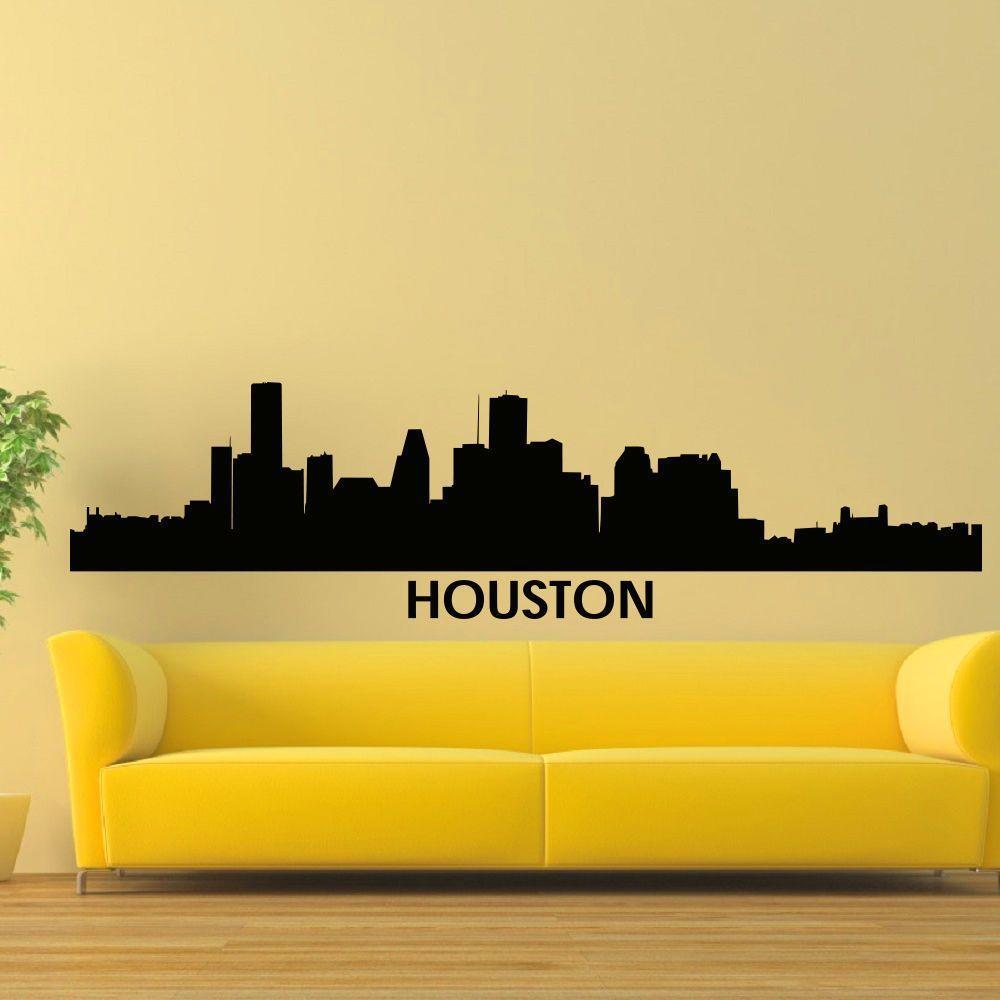 li>Artist: Stickalz</li><li>Title: Houston Skyline City Silhouette ...