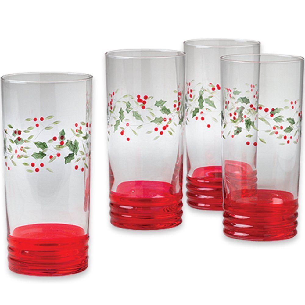 Set Of 4 Cooler Glasses Glassware Glass Set Glass