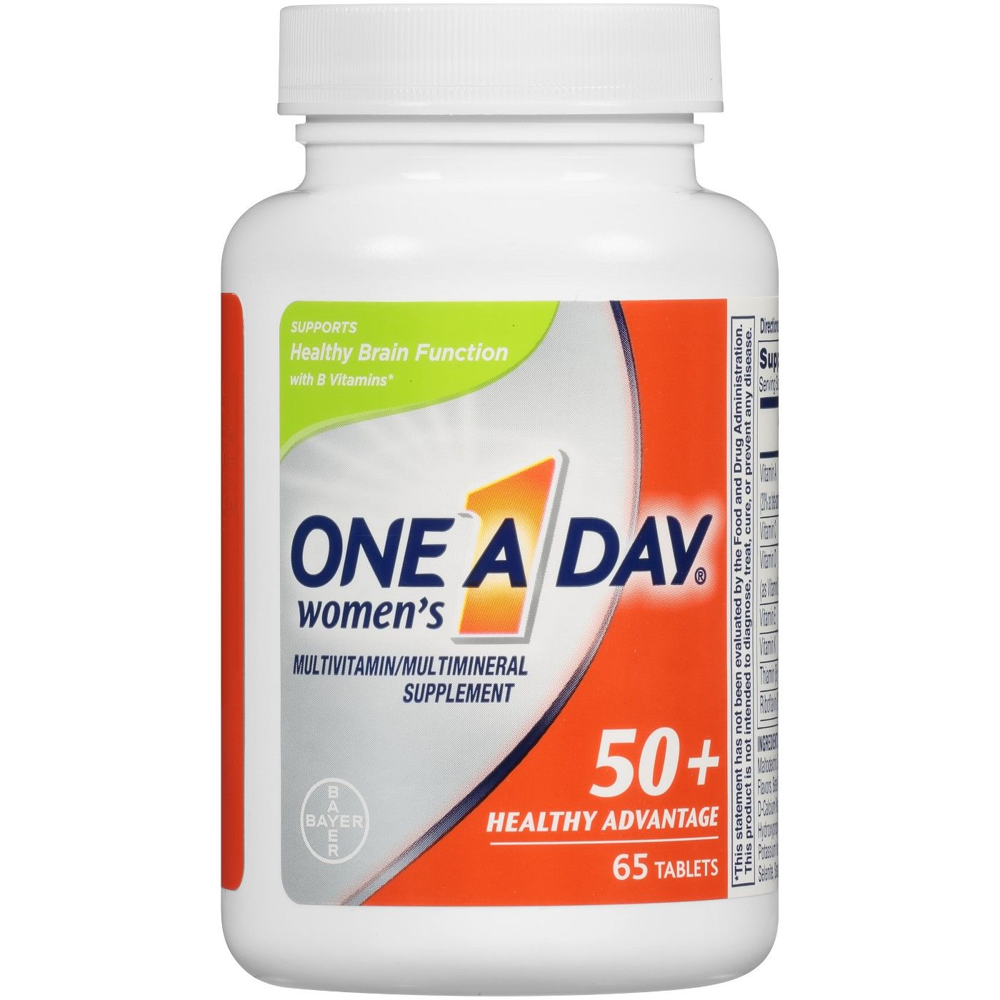One A Day Women S 50 Health Advantage Multivitamin Multimineral Dietary Supplement Tablets 65ct Multivitamin Heart Medication Healthy Brain Function