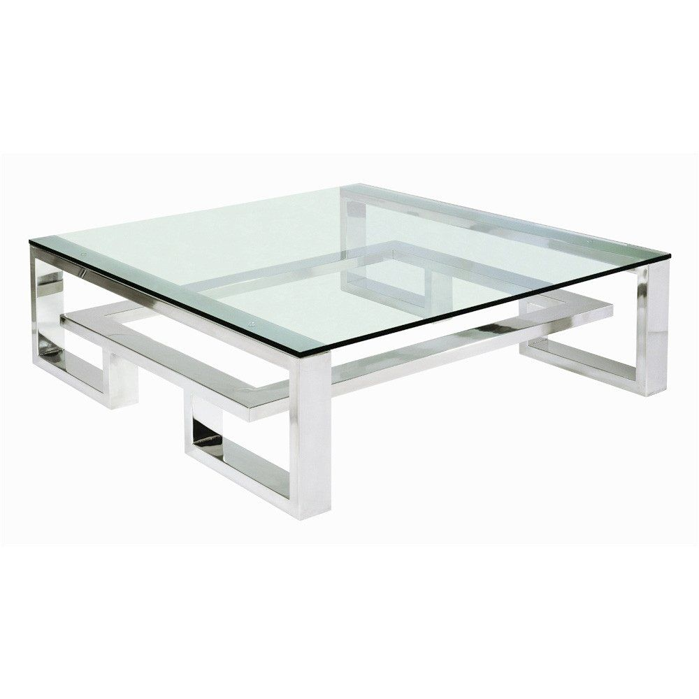 Lovely large square glass coffee table table modern square glass coffee table eclectic large modern