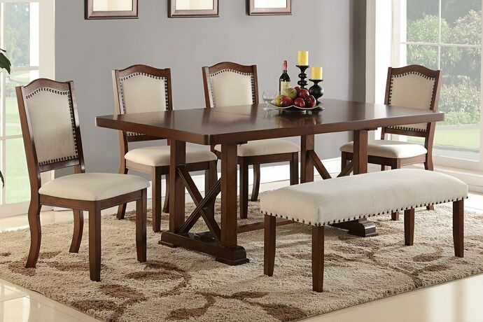 Have To Have It Jofran Bakers Cherry Counter Height Table With 1 Bench And 6 Chairs 1305 01 High Dining Table Dining Room Sets Dinning Room Tables