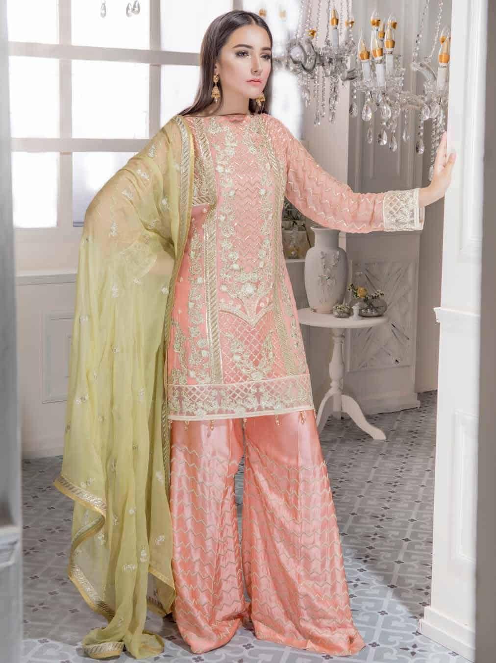 c1a4a94934 Freesia Embroidered Eid Chiffon Salwar Kameez | Pakistani suits ...